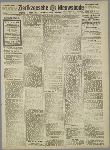 Zierikzeesche Nieuwsbode 1922-03-17