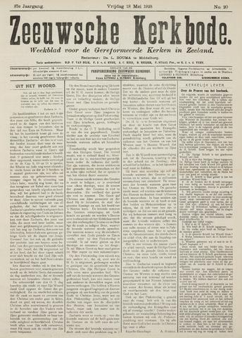 Zeeuwsche kerkbode, weekblad gewijd aan de belangen der gereformeerde kerken/ Zeeuwsch kerkblad 1923-05-18