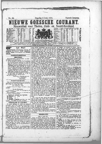 Nieuwe Goessche Courant 1874-06-09