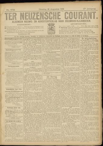 Ter Neuzensche Courant. Algemeen Nieuws- en Advertentieblad voor Zeeuwsch-Vlaanderen / Neuzensche Courant ... (idem) / (Algemeen) nieuws en advertentieblad voor Zeeuwsch-Vlaanderen 1918-08-13