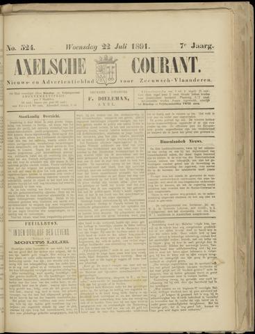 Axelsche Courant 1891-07-22