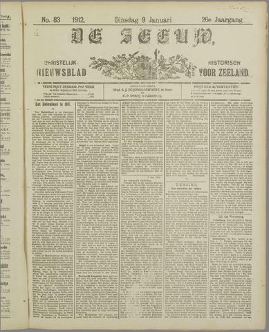 De Zeeuw. Christelijk-historisch nieuwsblad voor Zeeland 1912-01-09