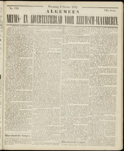 Ter Neuzensche Courant. Algemeen Nieuws- en Advertentieblad voor Zeeuwsch-Vlaanderen / Neuzensche Courant ... (idem) / (Algemeen) nieuws en advertentieblad voor Zeeuwsch-Vlaanderen 1872-10-09