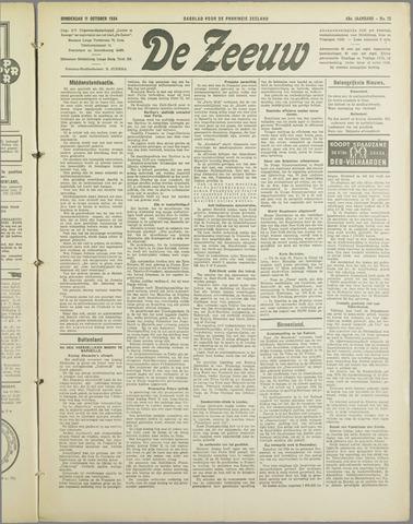 De Zeeuw. Christelijk-historisch nieuwsblad voor Zeeland 1934-10-11