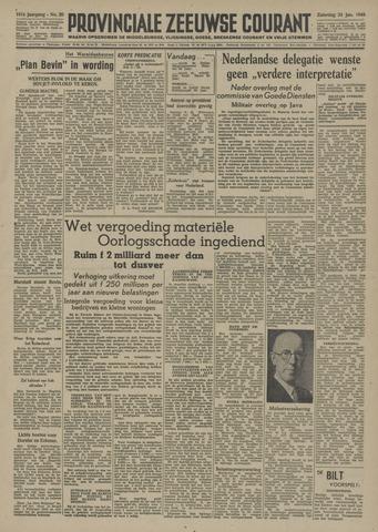 Provinciale Zeeuwse Courant 1948-01-24