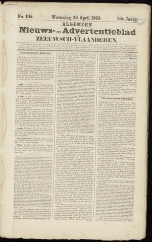 Ter Neuzensche Courant. Algemeen Nieuws- en Advertentieblad voor Zeeuwsch-Vlaanderen / Neuzensche Courant ... (idem) / (Algemeen) nieuws en advertentieblad voor Zeeuwsch-Vlaanderen 1863-04-29