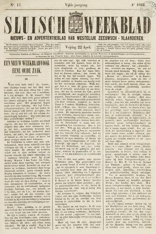 Sluisch Weekblad. Nieuws- en advertentieblad voor Westelijk Zeeuwsch-Vlaanderen 1864-04-22