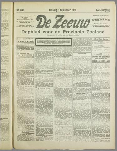 De Zeeuw. Christelijk-historisch nieuwsblad voor Zeeland 1930-09-09