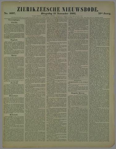 Zierikzeesche Nieuwsbode 1882-11-21