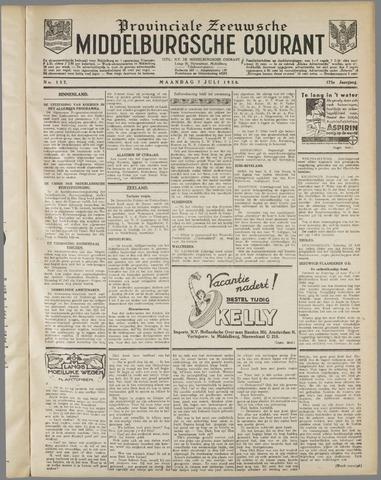 Middelburgsche Courant 1930-07-07