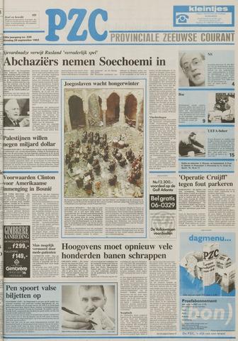 Provinciale Zeeuwse Courant 1993-09-28