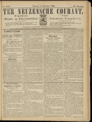Ter Neuzensche Courant. Algemeen Nieuws- en Advertentieblad voor Zeeuwsch-Vlaanderen / Neuzensche Courant ... (idem) / (Algemeen) nieuws en advertentieblad voor Zeeuwsch-Vlaanderen 1905-12-12