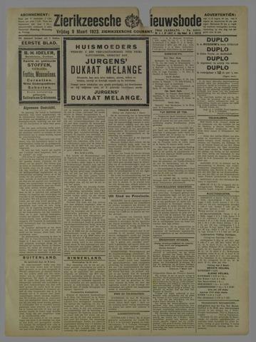 Zierikzeesche Nieuwsbode 1923-03-09