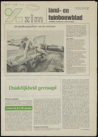 Zeeuwsch landbouwblad ... ZLM land- en tuinbouwblad 1986