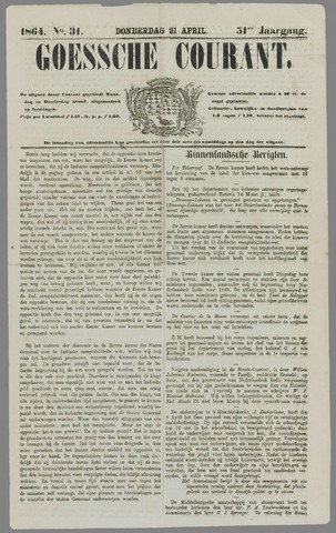 Goessche Courant 1864-04-21