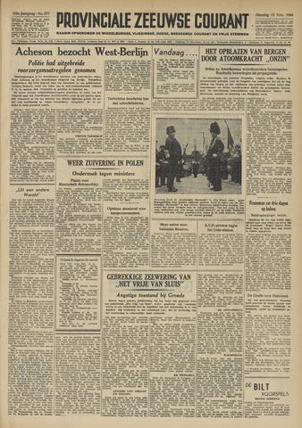 Provinciale Zeeuwse Courant 1949-11-15
