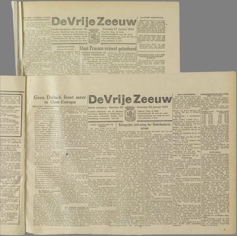 de Vrije Zeeuw 1945-01-22