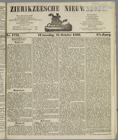 Zierikzeesche Nieuwsbode 1860-10-24