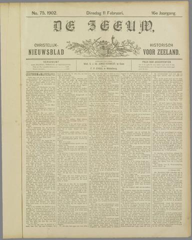 De Zeeuw. Christelijk-historisch nieuwsblad voor Zeeland 1902-02-11