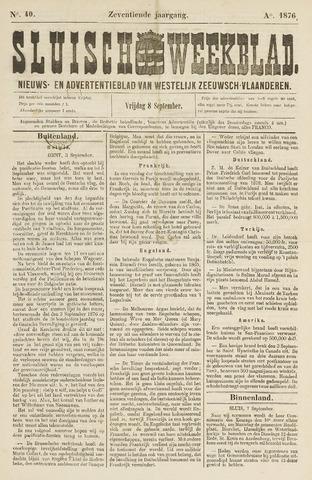Sluisch Weekblad. Nieuws- en advertentieblad voor Westelijk Zeeuwsch-Vlaanderen 1876-09-08