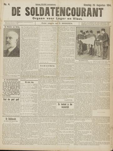 De Soldatencourant. Orgaan voor Leger en Vloot 1914-08-25