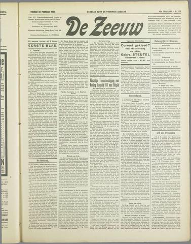 De Zeeuw. Christelijk-historisch nieuwsblad voor Zeeland 1934-02-23