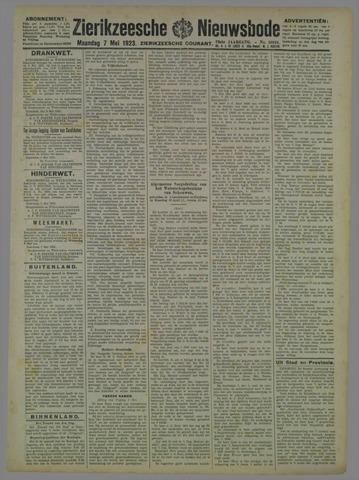 Zierikzeesche Nieuwsbode 1923-05-07