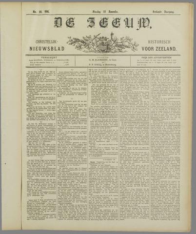 De Zeeuw. Christelijk-historisch nieuwsblad voor Zeeland 1898-11-22