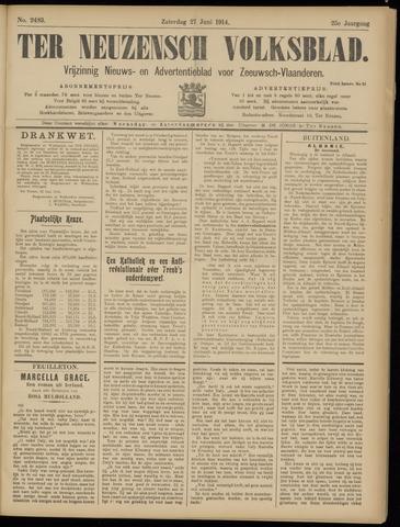 Ter Neuzensch Volksblad. Vrijzinnig nieuws- en advertentieblad voor Zeeuwsch- Vlaanderen / Zeeuwsch Nieuwsblad. Nieuws- en advertentieblad voor Zeeland 1914-06-27