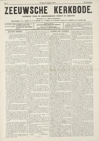 Zeeuwsche kerkbode, weekblad gewijd aan de belangen der gereformeerde kerken/ Zeeuwsch kerkblad 1935-01-25