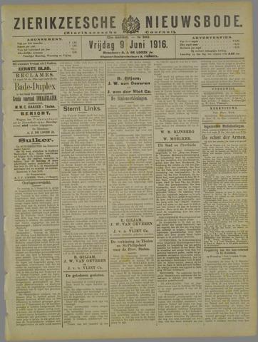 Zierikzeesche Nieuwsbode 1916-06-09
