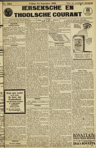 Ierseksche en Thoolsche Courant 1926-09-24