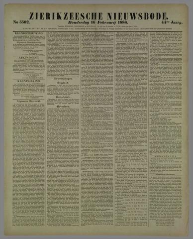Zierikzeesche Nieuwsbode 1888-02-16