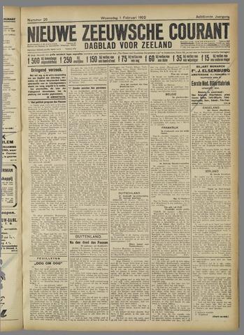 Nieuwe Zeeuwsche Courant 1922-02-01