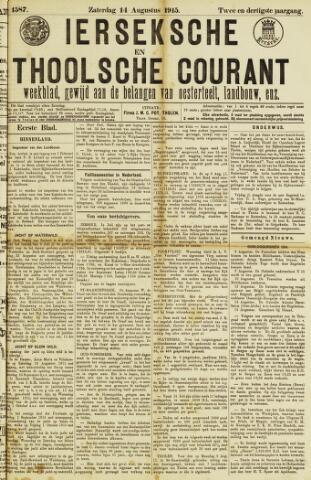 Ierseksche en Thoolsche Courant 1915-08-14