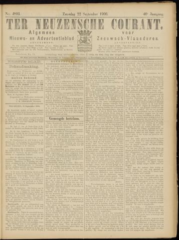 Ter Neuzensche Courant. Algemeen Nieuws- en Advertentieblad voor Zeeuwsch-Vlaanderen / Neuzensche Courant ... (idem) / (Algemeen) nieuws en advertentieblad voor Zeeuwsch-Vlaanderen 1906-09-22