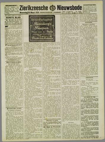 Zierikzeesche Nieuwsbode 1924-03-26