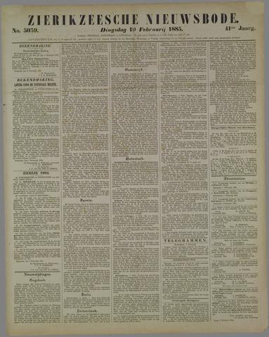 Zierikzeesche Nieuwsbode 1885-02-10