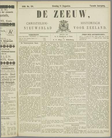 De Zeeuw. Christelijk-historisch nieuwsblad voor Zeeland 1888-08-14