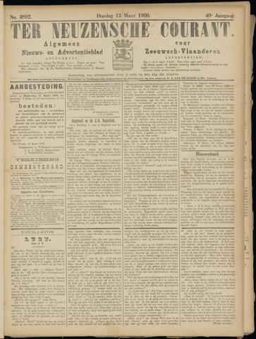 Ter Neuzensche Courant. Algemeen Nieuws- en Advertentieblad voor Zeeuwsch-Vlaanderen / Neuzensche Courant ... (idem) / (Algemeen) nieuws en advertentieblad voor Zeeuwsch-Vlaanderen 1900-03-13