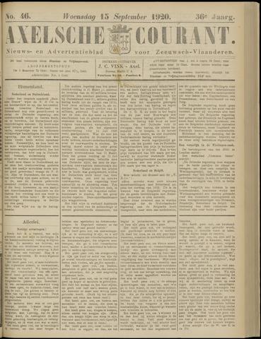 Axelsche Courant 1920-09-15