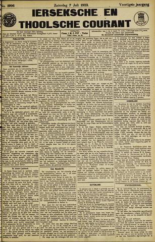 Ierseksche en Thoolsche Courant 1923-07-07