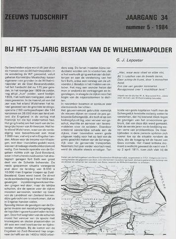 Zeeuws Tijdschrift 1984-09-01