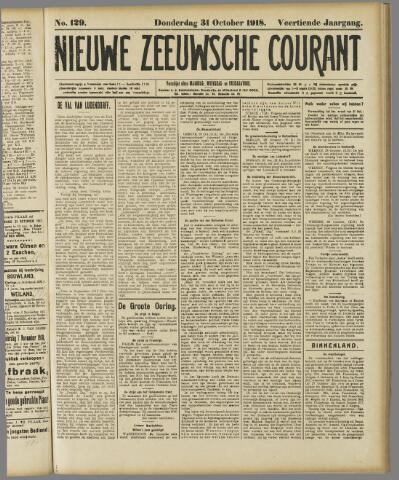 Nieuwe Zeeuwsche Courant 1918-10-31