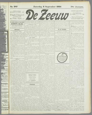 De Zeeuw. Christelijk-historisch nieuwsblad voor Zeeland 1924-09-06