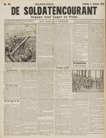 De Soldatencourant. Orgaan voor Leger en Vloot 1915-01-03