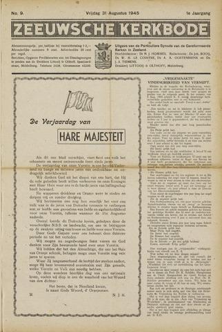 Zeeuwsche kerkbode, weekblad gewijd aan de belangen der gereformeerde kerken/ Zeeuwsch kerkblad 1945-08-31