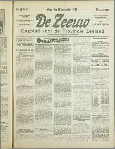 De Zeeuw. Christelijk-historisch nieuwsblad voor Zeeland 1930-09-17