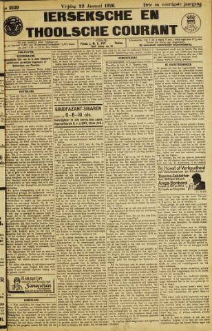 Ierseksche en Thoolsche Courant 1926-01-22