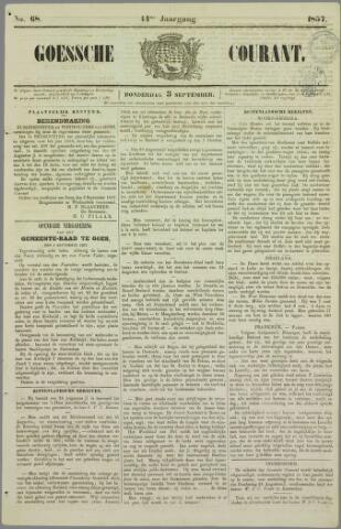 Goessche Courant 1857-09-03